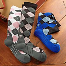 Women's Compression Argyle Socks
