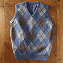Scottish Lamb's-wool Argyle Vest