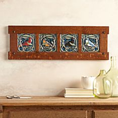 Rookwood Pottery Framed Songbird Tile Set