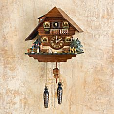 Handcrafted Black Forest Dancers Cuckoo Clock