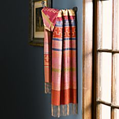 Paracas Alpaca and Silk Scarf, Made in Peru