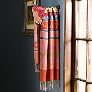 Paracas Alpaca and Silk Scarf