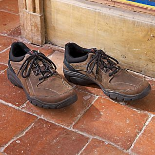 Rugged Lace-up Walking Shoes