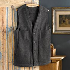 Men's Five-Pocket Wool Travel Vest