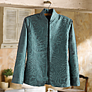 Boteh Embroidered Silk Jacket