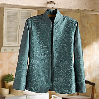 View Boteh Embroidered Silk Jacket image