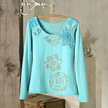 100% Cotton Indonesian Sunflower Applique Shirt