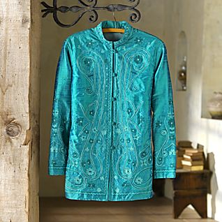 Varkala Beach Silk Paisley Jacket