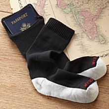 Passport Security Socks with Zippered Pocket