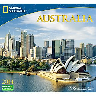 2014 National Geographic Australia Wall Calendar