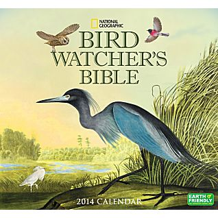 View 2014 National Geographic Bird Watcher's Bible Wall Calendar image