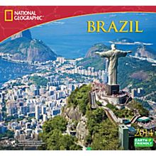 2014 National Geographic Brazil Wall Calendar