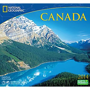 2014 National Geographic Canada Wall Calendar
