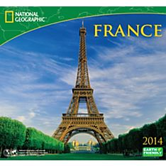 2014 National Geographic France Wall Calendar