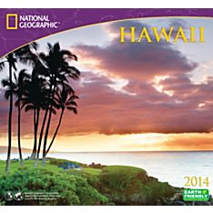 2014 National Geographic Hawaii Wall Calendar