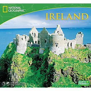 2014 National Geographic Ireland Wall Calendar