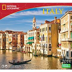 2014 National Geographic Italy Wall Calendar
