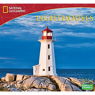 2014 National Geographic Lighthouses Wall Calendar