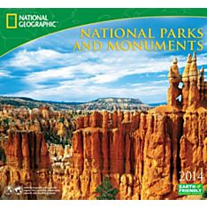 2014 National Geographic National Parks & Monuments Wall Calendar