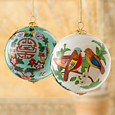 Hand-Painted Longevity Ornaments