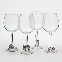Handcrafted Pewter Safari Glasses - Set of 4