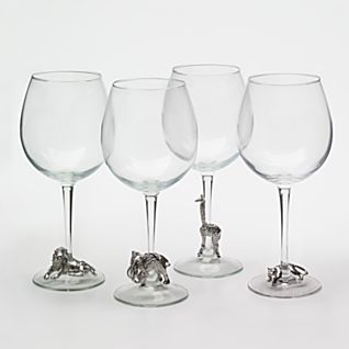 View Pewter Safari Glasses - Set of 4 image