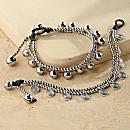 Spiral and Bell Bracelets