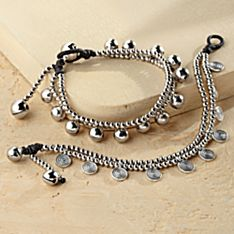 Handcrafted Spiral and Bell Bracelets