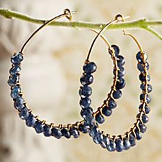 Water Sapphire Earrings