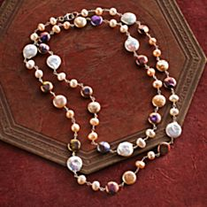 Jewel in the Lotus Pearl Necklace