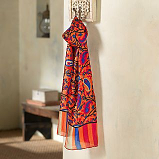 View Indian Sunset Silk Scarf image