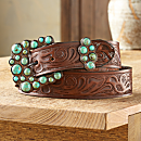 Madrid Falls Tooled Leather Belt