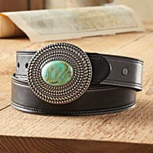 Hamilton Pool Leather Belt, Made in the USA