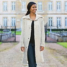 Women's Aran Sweater Coat