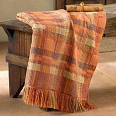 Handwoven Sunset Woven Throw