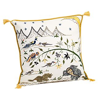 View Gujarati Moon Throw Pillow image