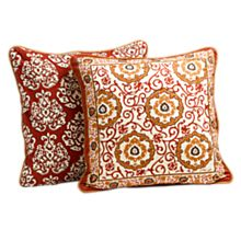 100% Cotton Mughal Jewel Reversible Throw Pillow