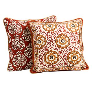 View Mughal Jewel Reversible Throw Pillow image
