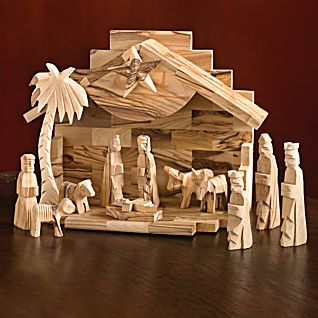 View Holy Land Olive-wood Nativity Set image
