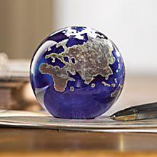 Lundberg Studios Art Glass Globe Paperweight