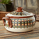 Bulgarian Hand-painted Casserole Dish