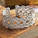 Colombian Sterling Silver Lace Cuff Bracelet