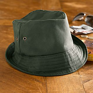 Irish Waxed-cotton Bucket Hat