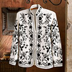 Womens Silk Embroidered Jacket