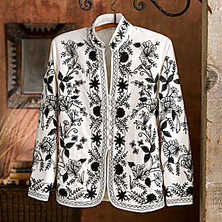 View Lotus Temple Embroidered Jacket image