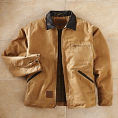 Men's Oilskin Outback Canvas Jacket