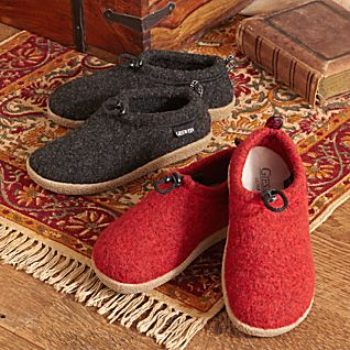 Men's Giesswein Austrian Boiled Wool Travel Slippers