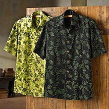 100% Cotton Handcrafted Indonesian Palm Batik Shirt