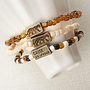 Cause an Uproar Stretch Bracelets - Set of 3