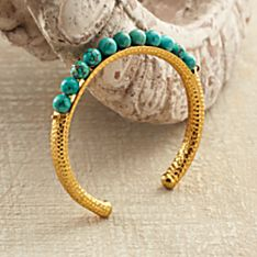 Turkish Blue Moon Turquoise Cuff